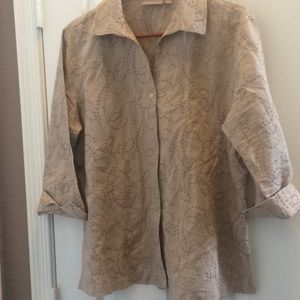 Ladies Croft and barrow embroidered blouse large